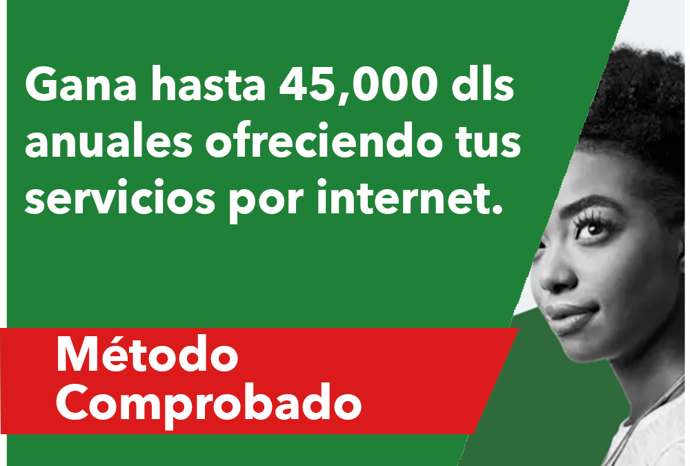 Gana hasta 45,000 dls anuales ofreciendo servicios por internet