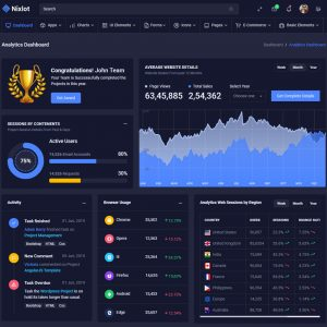 template admin bootstrap 4
